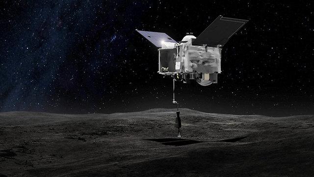הדמיה: אוסיריס רקס תשגר זרוע רובוטית אל בנו (צילום: AP / NASA)