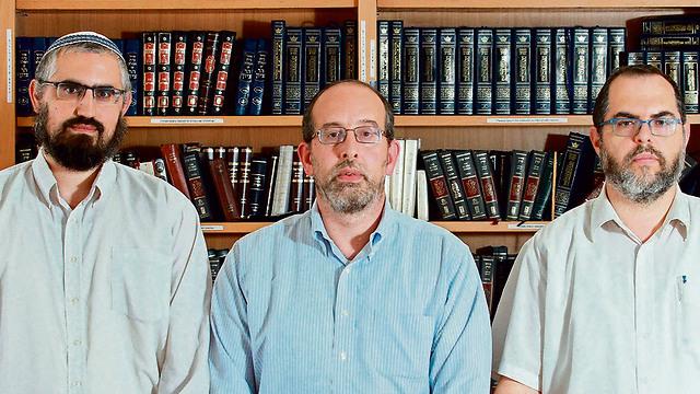 Rabbis Shlomo Sobol (R), David Fine and Liad Orian (Photo: Dana Kopel)