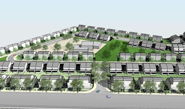 הדמיית שכונת נווה השרון בנתיבות. 153 יחידות דיור מוזלות אמורות לקום כאן (הדמיה: יער אדריכלים) (הדמיה: יער אדריכלים)