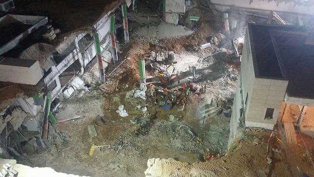 The scene of the collapse (Photo: Barel Efraim) (Photo: Barel Efraim)
