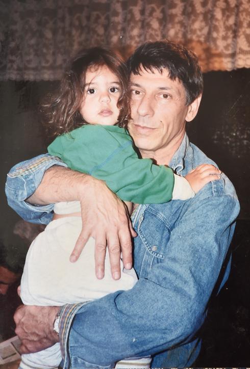 """ליבי וילנר וחנן גולדבלט. """"ילדה של אבא"""" (צילום: אלבום משפחתי)"""