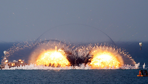 Part of Russia's display of military force in the Crimean Sea (Photo: MCT)