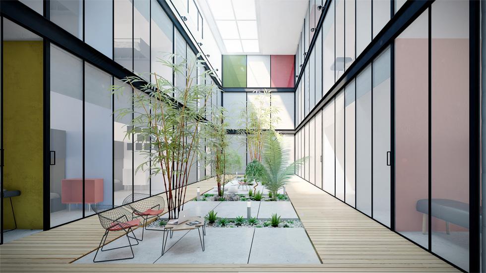 מתוך ההצעה הלא זוכה של יואב מסר, שמאחוריו פרויקטים בולטים כמו מלון 'נורמן'' בעיר. ''ראיתי את הפרויקט כמחויבות אישית שלי'', הוא אומר. האדריכלות אינה חשובה כמו הכסף (הדמיה: סטודיו מיראז')