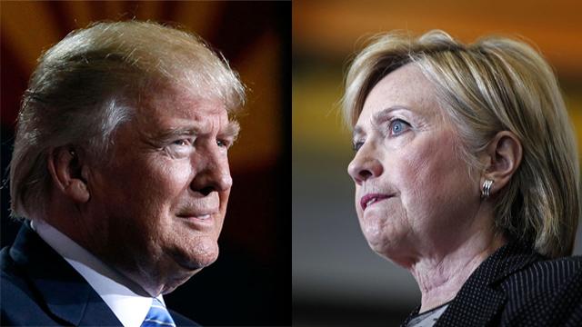 הילרי קלינטון ודונלד טראמפ (צילום: AFP)