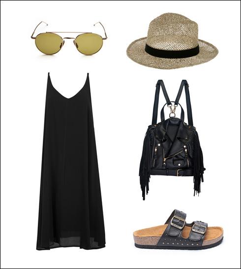 כובע: Legaloutfit, משקפיים: טום בראון בורובל אופטיק, תיק גב: Myurbanrunway, כפכפים: טבע נאות, שמלה: רונן חן (צילום: אבי ולדמן, עדי גלעד)