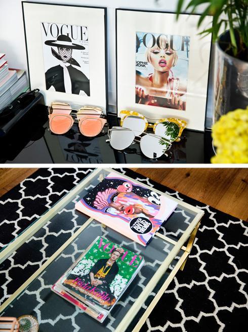 מגזיני אופנה הפכו לחלק מעיצוב הדירה (צילום: ענבל מרמרי)