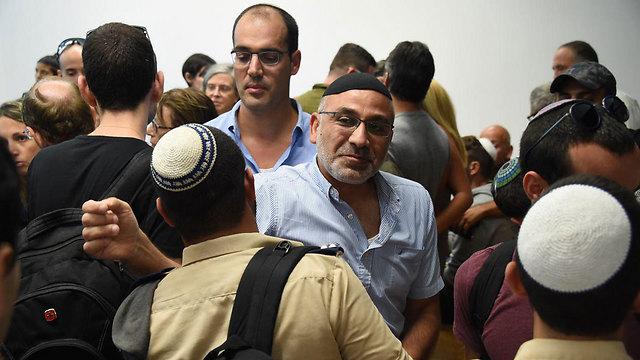 אביו של אלמוג שילוני, היום בית המשפט (צילום: יאיר שגיא) (צילום: יאיר שגיא)