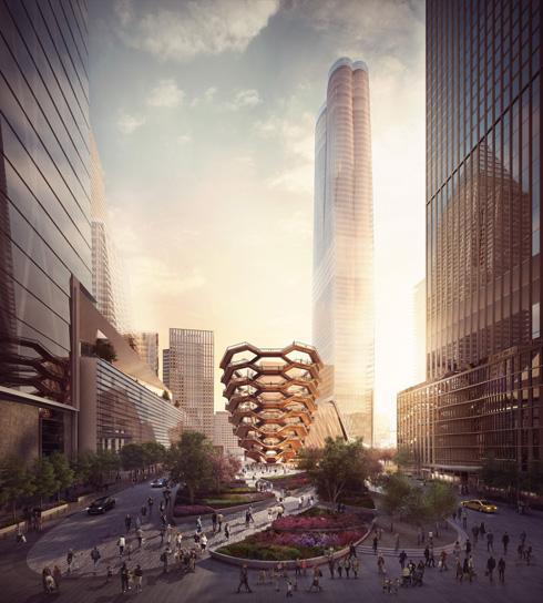 באותו זמן בניו יורק: מדרגות לשום מקום בתקציב אדיר. לחצו על ההדמיה לסיפור (הדמיה: באדיבות Heatherwick Studio)