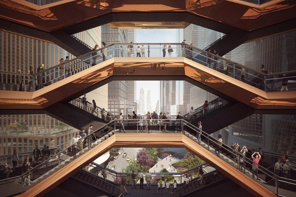 החלום המקובל והפוטוגני: פרויקט מתוקשר ומכניס אי-שם בעולם, כמו המדרגות לשום-מקום של תומס הד'רוויק (לחצו על התצלום) (הדמיה: באדיבות Heatherwick Studio)