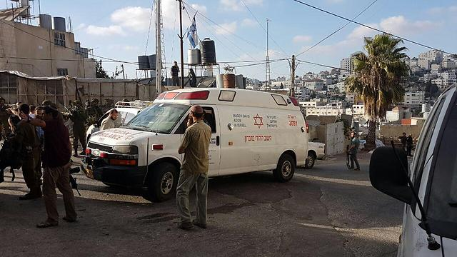 Gilbert Checkpoint in Hebron following the stabbing attempt