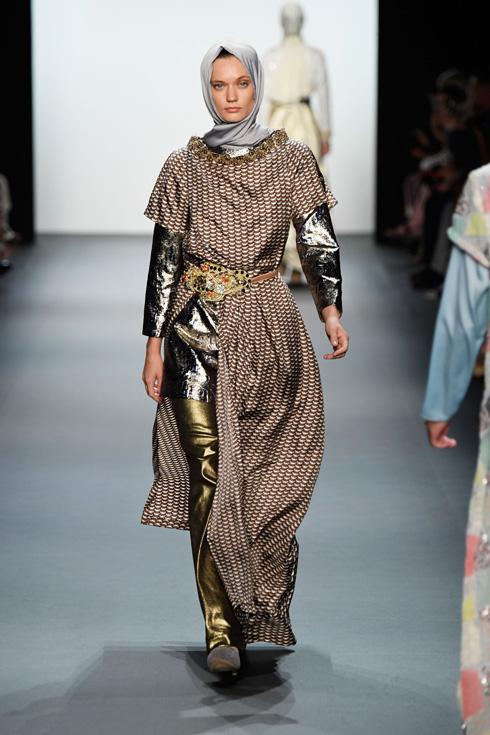 תצוגת האופנה של אניסה הסיבואן בניו יורק (צילום: Gettyimages)