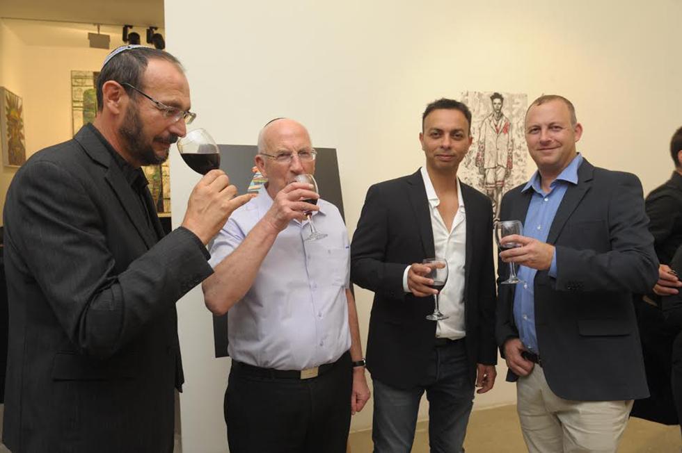 אלחנן שור, גיא אדרי, מוטי שור, פיליפ ליכטנשטיין (צילום: אבשלום ששוני) (צילום: אבשלום ששוני)