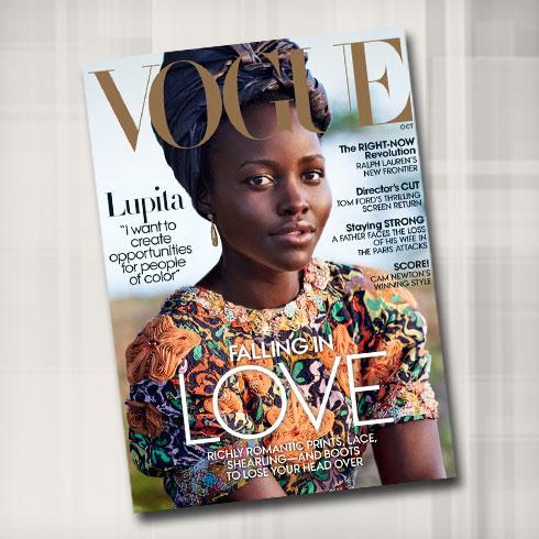 היא משחקת בסרט Queen of Katwe, הוא עיצב את התלבושות. ניונגו על שער ווג