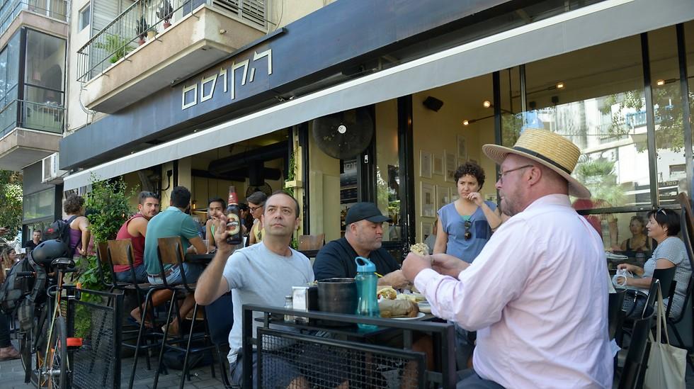 """פרגוס הנדרסון (מימין) ממסעדת """"סנט ג'ון"""" בלונדון (צילום: ירון ברנר) (צילום: ירון ברנר)"""