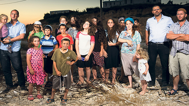 Residents of Amona (Photo: Tal Shahar)