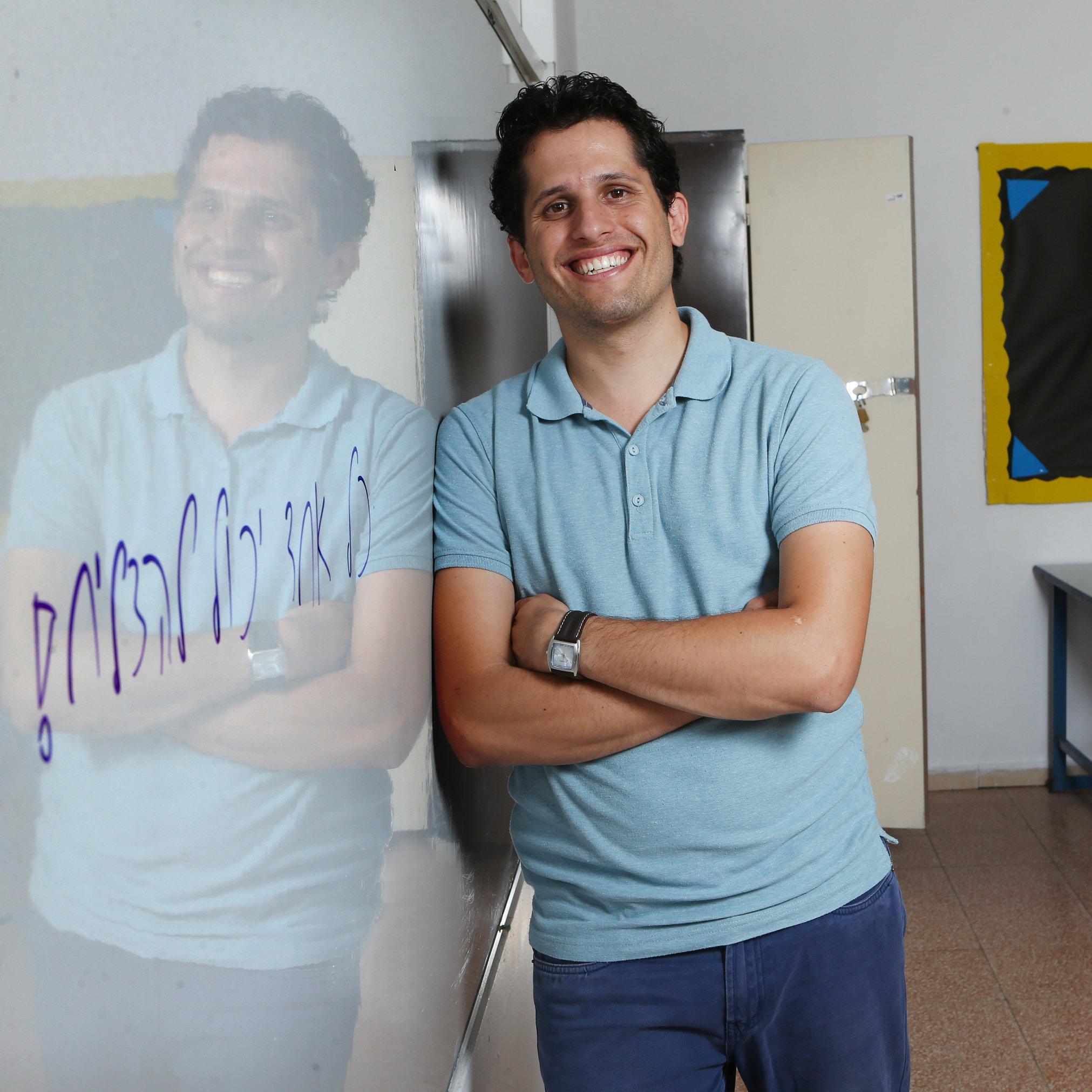 אליאסף יעקב. מחנך ומורה לאנגלית   צילום: אלכס קולומויסקי