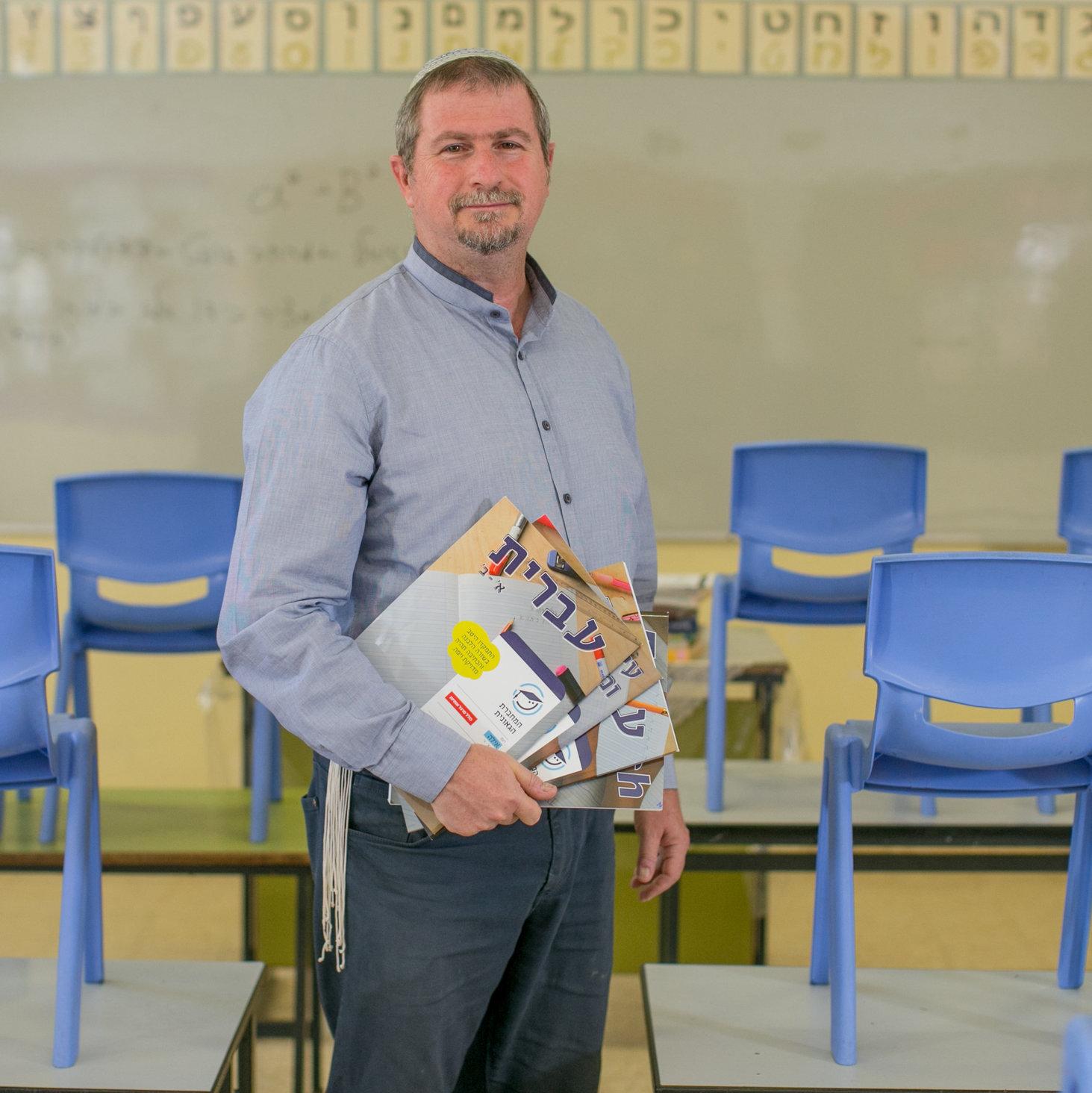 ישראל שירן. מנהל בית ספר בקרית ארבע   צילום: אוהד צויגנברג