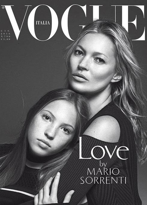 הדור הבא. מוס עם בתה לילה גרייס, על שער מגזין ווג איטליה