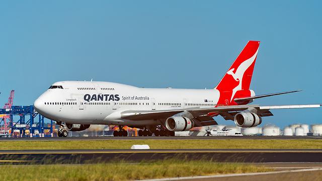 מטוס חברת התעופה האוסטרלית (צילום: shutterstock) (צילום: shutterstock)
