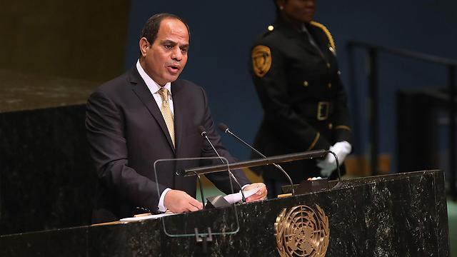 """נשיא מצרים באו""""ם (צילום: AFP) (צילום: AFP)"""