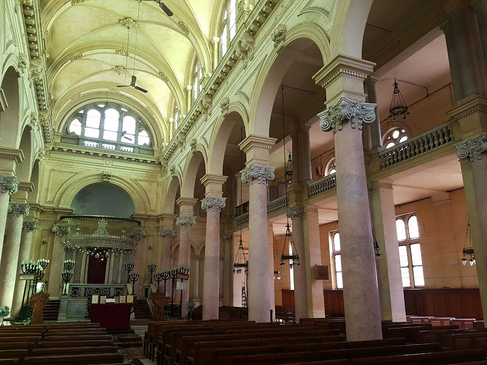 בית הכנסת המפואר באלכסנדריה. רק 18 יהודים
