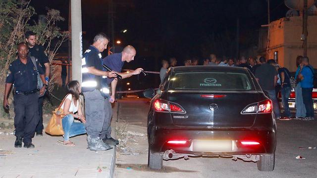 זירת הרצח בלוד (צילום: דנה קופל) (צילום: דנה קופל)