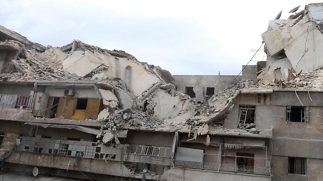 עשרות בניינים נחרבו (צילום: רוטרס) (צילום: רוטרס)
