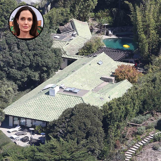 הבית של ג'ולי ממבט על (צילום: splashnews)