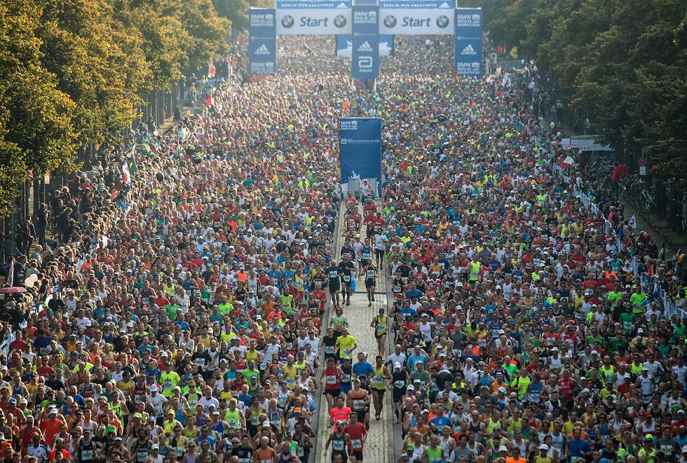 מרתון ברלין הבוקר (צילום: AFP) (צילום: AFP)