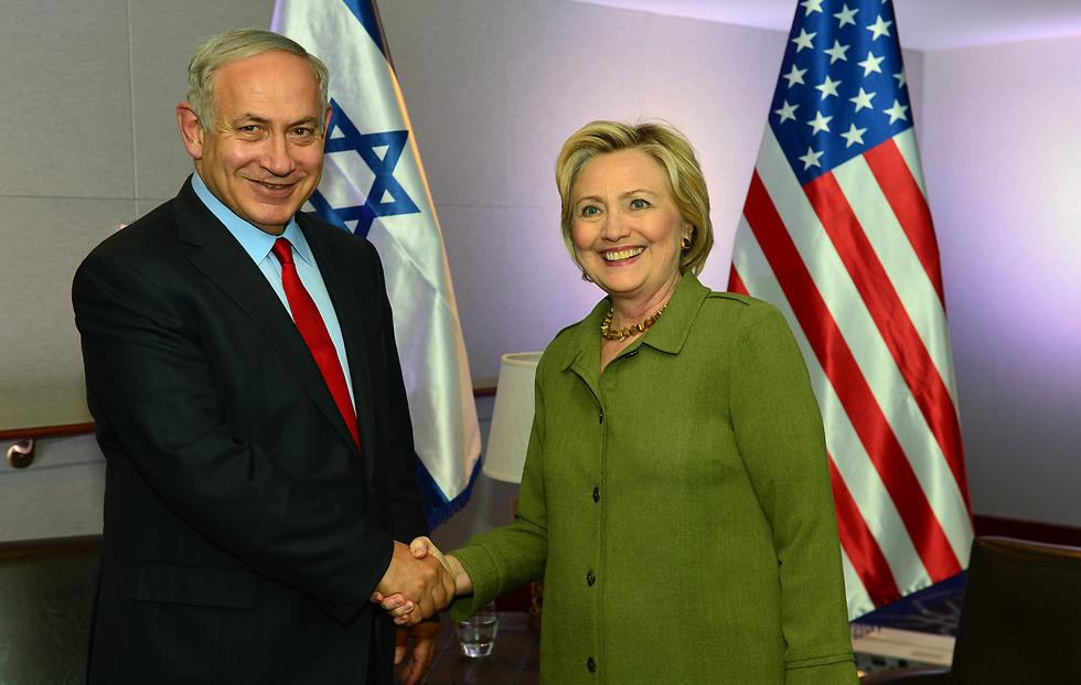PM Netanyahu and Democratic Presidential Nominee Hillary Clinton (Photo: Kobi Gidon) (Photo: Kobi Gidon)