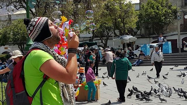הכיכר המרכזית בלה פאס (צילום: ניר פדרבוש)