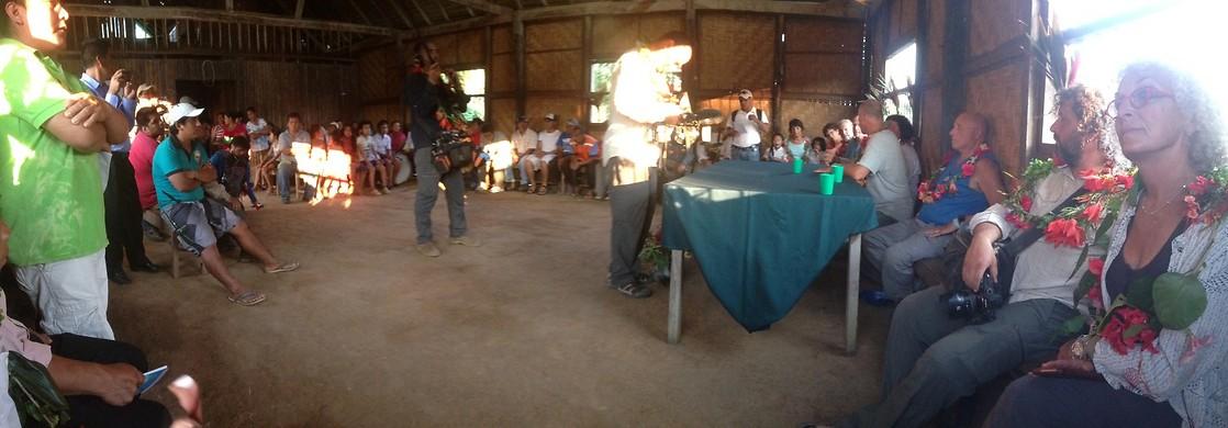 קבלת הפנים לקבוצה בכפר סאן חוסה (צילום: ניר פדרבוש)