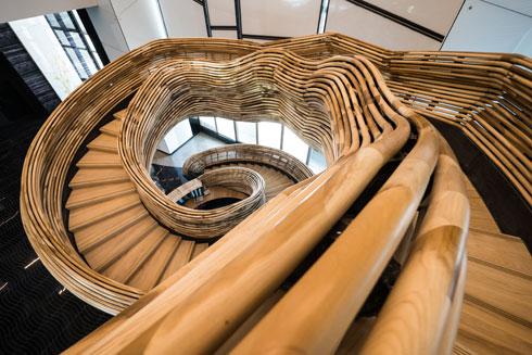 כך זה נראה ממעלה המדרגות (צילום: איתי סיקולסקי)