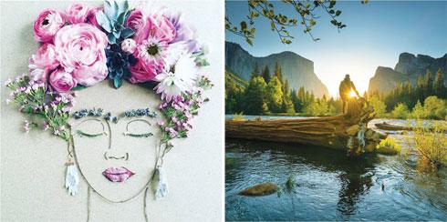 מימין: Chris Burkard; משמאל: Living pretty Naturally (צילום: מתוך Instagram.com)