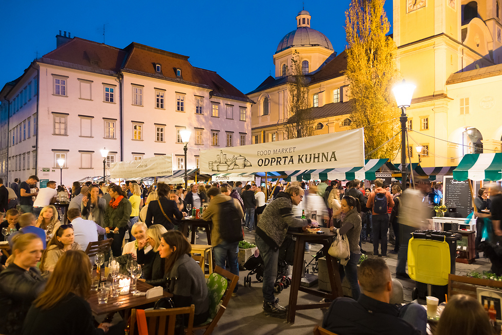 שוק תוסס בלובליאנה בירת סלובניה (צילום: shutterstock) (צילום: shutterstock)