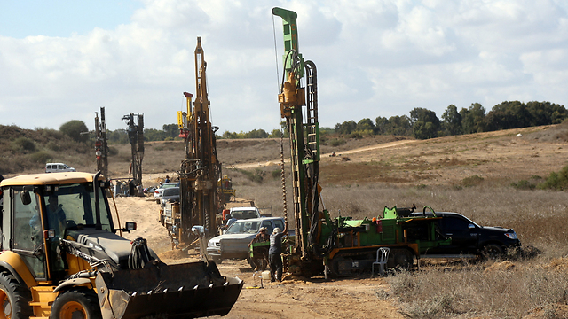 The underground barrier near the Gaza border is currently being constructed and will be completed in 2019 (Photo: Roi Idan)