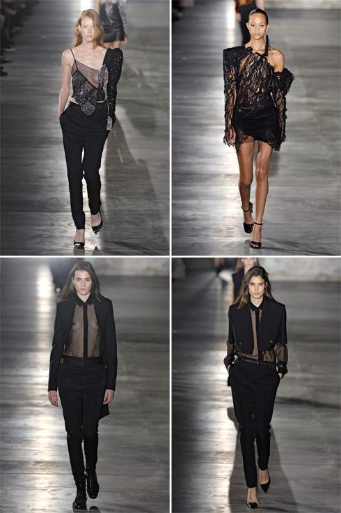 תצוגת האופנה של סאן לורן (צילום: Gettyimages)