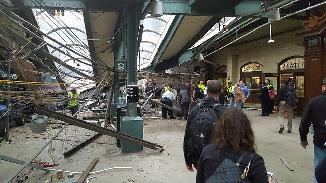 Destruction in the Hoboken train staiton (Photo: AP)