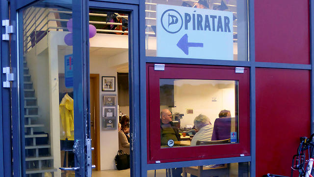 The entrance of the Icelandic Pirate Party headquarters in Reykjavik (Photo: Reuters)