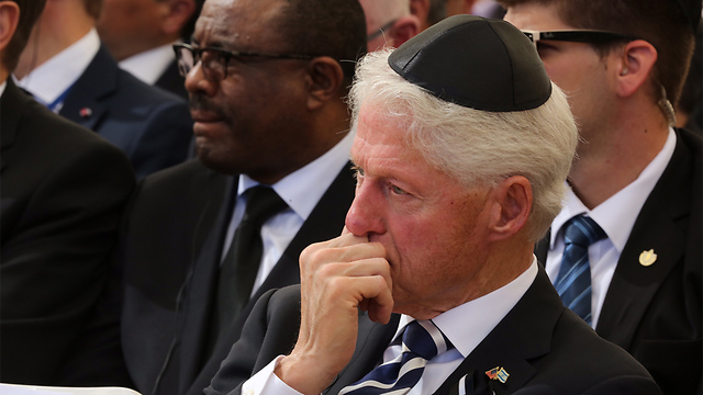 Former US President Bill Clinton (Photo: Gil Yohanan)