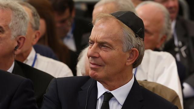 Former British Prime Minister Blair (Photo: Gil Yohanan)