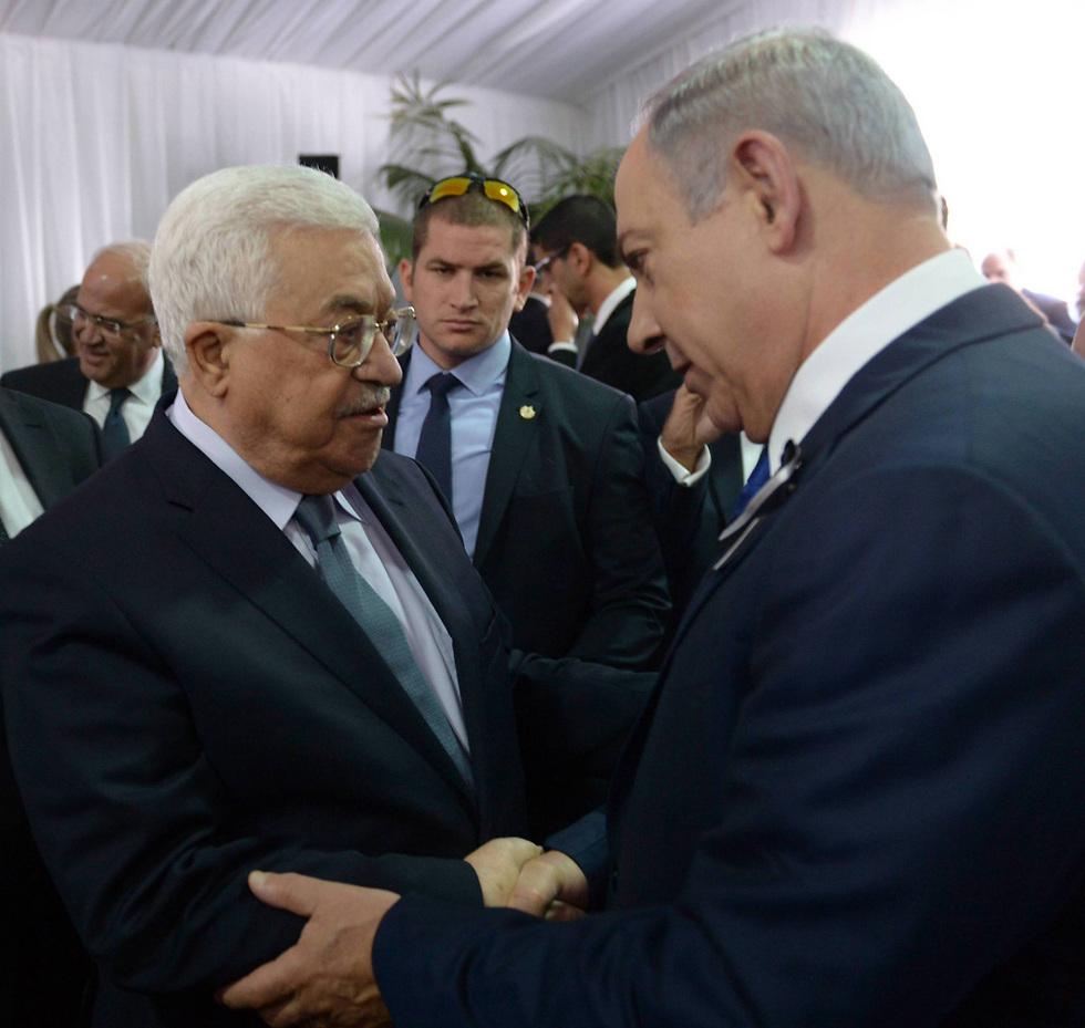 Prime Minister Benjamin Netanyahu and Palestinian President Mahmoud Abbas. Less pressure from the US (Photo: Amos Ben Gershom, GPO) (Photo: Amos Ben Gershom/GPO)