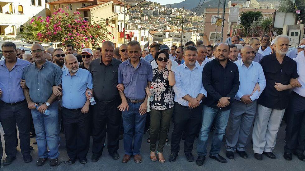 חברי הכנסת של הרשימה הערבית המשותפת בעצרת (צילום: אתר פאנט) (צילום: אתר פאנט)