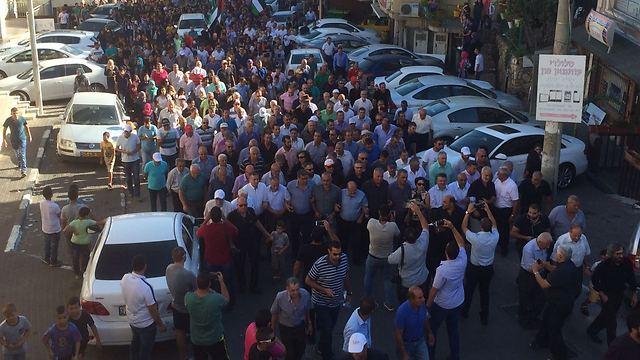 Arab-Israelis marching in Sakhninm, Friday. (Photo: Fant website)