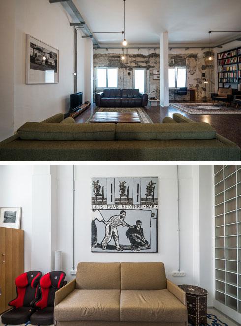 """""""הספה בחדר העבודה היא המקום המועדף עליי, אבל בכל רגע אני יכולה להתאהב פה במקום אחר"""" (צילום: איתי סיקולסקי)"""