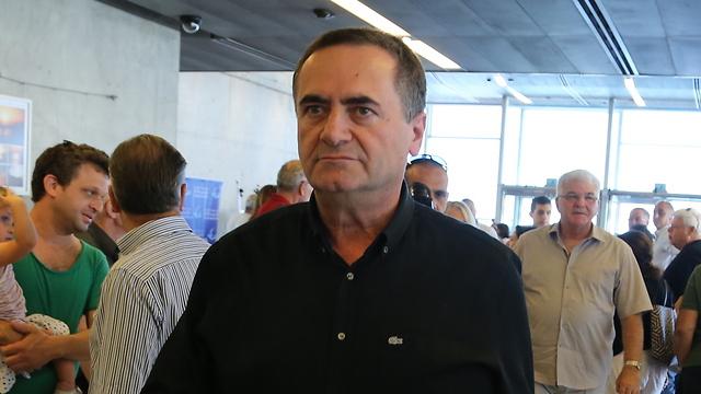 Minister Yisrael Katz (Photo: Zvika Tishler)