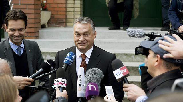 ראש הממשלה אורבן. איים להתפטר (צילום: EPA) (צילום: EPA)