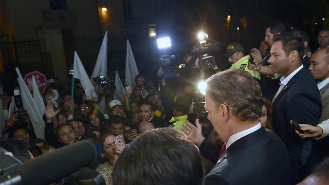 """""""לא אוותר עד הרגע האחרון"""". נשיא קולומביה, חואן מנואל סנטוס (צילום: AFP) (צילום: AFP)"""