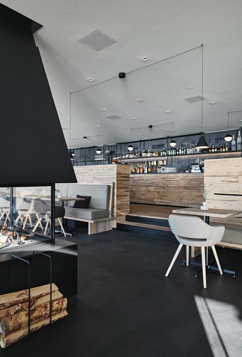 סגנון המסעדה תואם לקו האדריכלי של המבנה (צילום: Ryhänen/Joanna Laajisto Creative Studio Mikko )