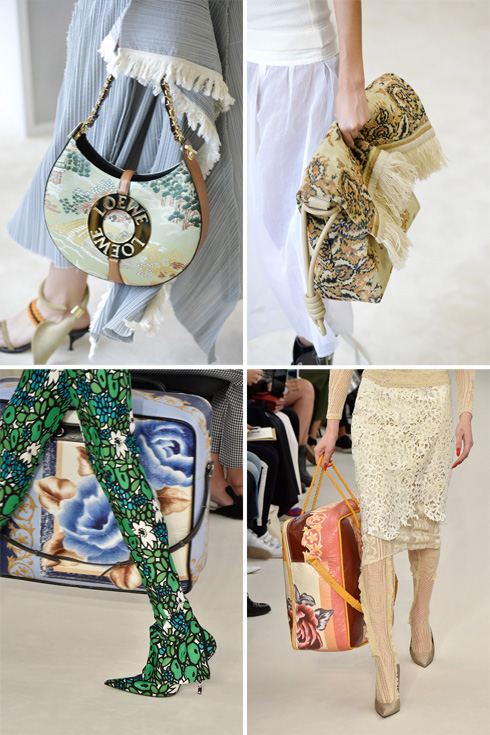מכוער זה היפה החדש. התיקים של Loewe (למעלה) ובלנסיאגה (צילום: Gettyimages)